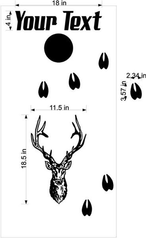 deer buck hunting cornhole boards