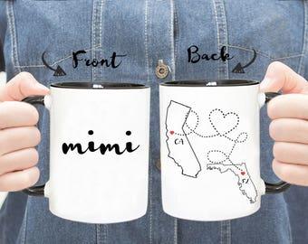 Personalized Mug, Long Distance Mug, Grandma Mug, Grandpa Mug, Mimi Mug, Grandparents Mug, Gift For Grandma, Gift For Grandpa