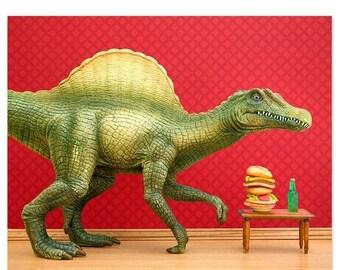 35% OFF SALE Dinosaur decor: Dino Burger