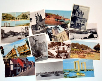Vintage postcards from England in the 1960s