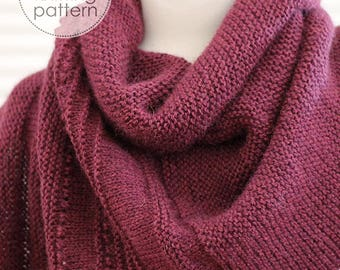 Knitting Pattern Shawl. Asymmetric Shawl Pattern. Knitting accessories. Knitting Pattern. Knit Shawl Pattern. Shawl Pattern.