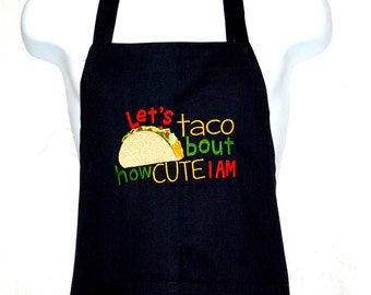Funny Taco Apron, Taco Tuesday,  Cute I Am, BBQ Apron, Custom Personalize With Name, No Shipping Fee, Ready To Ship TODAY, AGFT 686