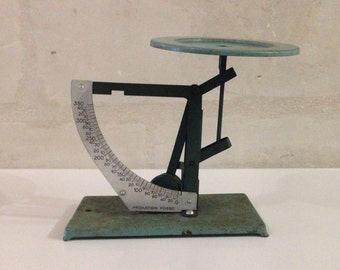 Vintage French Industrial Enamelled Postal Scale / Production Posso / 1960's Letter Scale / Balance / Weigh Scale / 350g / France