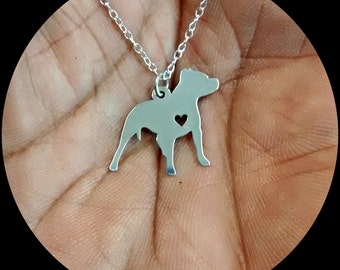 PitBull Necklace - Engraving Pendant - Sterling Silver Jewelry - Gold Jewelry - Rose Gold Jewelry - Personalized Pet Dog Jewelry - Dog Gift