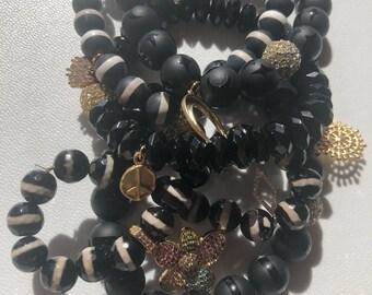 5 Beaded bracelet stack