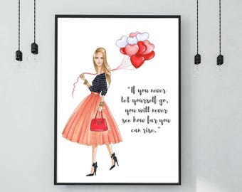 A4 Print Motivational Quote Illustration Fashion