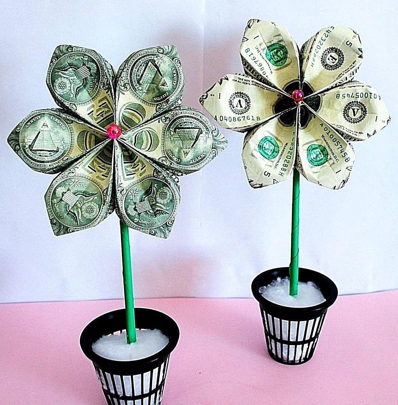 money origami money flower origami flower money bouquet - photo#28