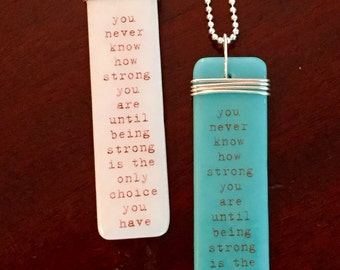 """Breast Cancer, Healing, Strength, inspirational gift, friendship, live strong, Fused Glass Pendant, 18"""" sterling silver ball chain, glass"""