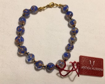 Italian  Beautiful Antica Murrina Venezia Murano Glass Bracelet. New