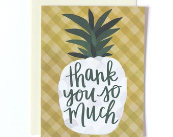 Thank You So Much Pineapple Illustrated Card // 1canoe2