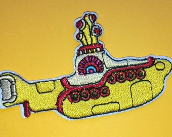 Yellow Submarine Embroidered Iron On Patch