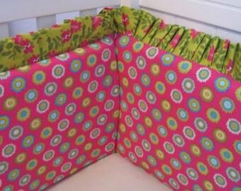 Add RUFFLE TRIM  to any Crib Bumper - You choose the fabric
