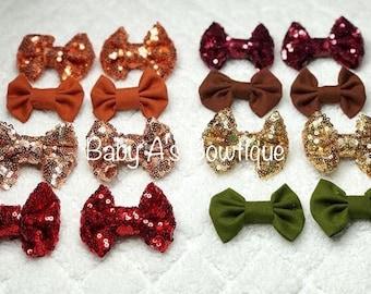 Mini sequin bows pairs