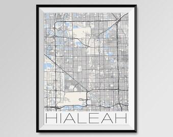 Hialeah map Etsy