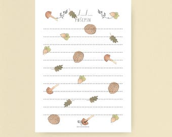 Notebook, to-do list, notepads - forest, scandinavian pattern