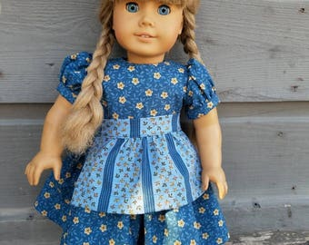 Dress and Apron for 18 inch American Girl Doll