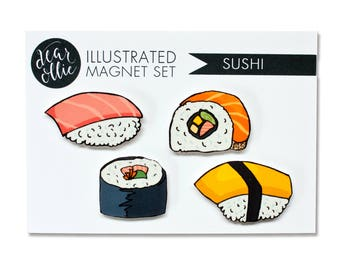 Sushi - Magnet Set of 4