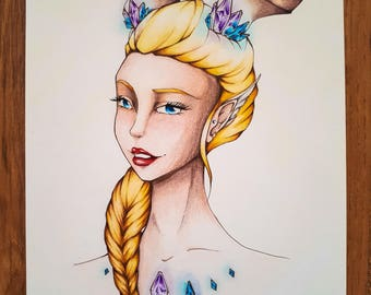 Colored Pencil Drawing | The Dragon Lady