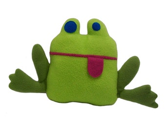 Bright green and blue frog