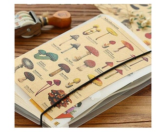 Mushroom Stickers, Kraft Stickers, Planner Stickers