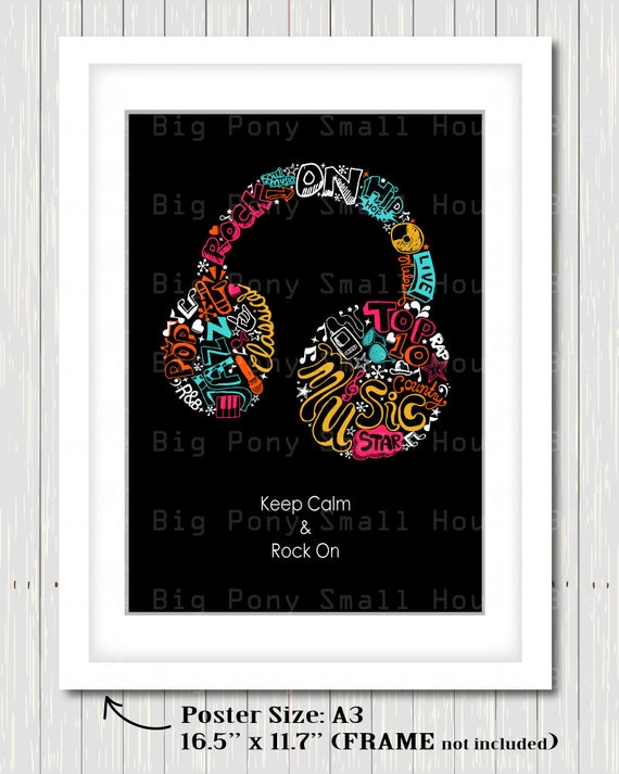 Keep Calm and Rock On Poster clipart, clip art poster, music notes clip art, colorful notes clip art, color clipart