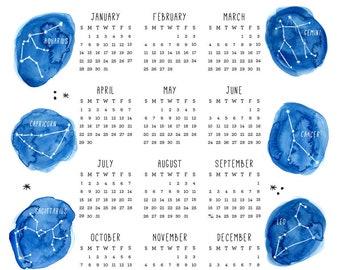 2018 Constellation Calendar