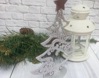 Silver christmas tree Christmas decorations Christmas decor  Openwork christmas tree Figured christmas tree Christmas gift