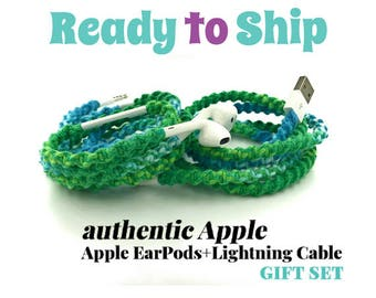Gift Set for Her for iPhone 6 7 Charger Cable & Wrapped Tangle Free EarPods Headphones iPhone iPod in HARMONY