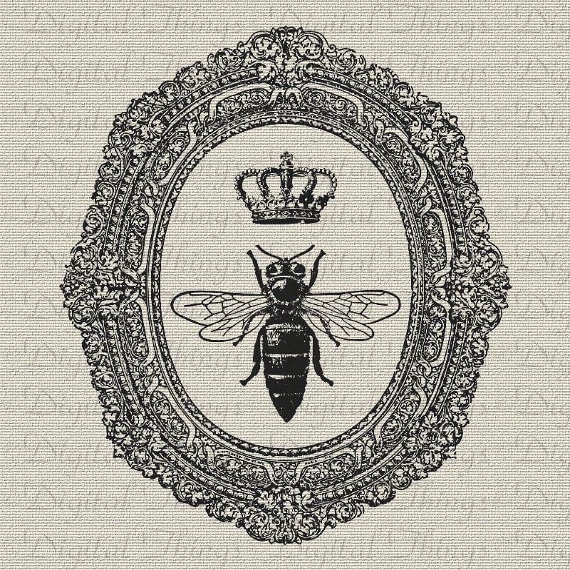 Queen Bee Crown Ornate Frame Wall Decor Art Printable Digital