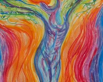 Tree Goddess: Connecting Spirit and Body  magnet art card