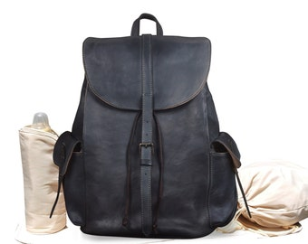 Leather Backpack Diaper Bag, Leather Backpack, Backpack Diaper Bag, Leather Diaper Bag, Diaper Bag Backpack, Leather Rucksack, City Rucksack