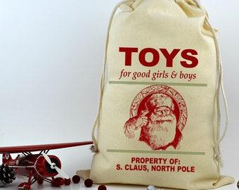 Christmas, Santa Sack, Toy Bag, Santa Bag, Toy Sack, Christmas Gift Bag, Christmas Decor, Christmas Decorating, Santa, Christmas Toy Bag