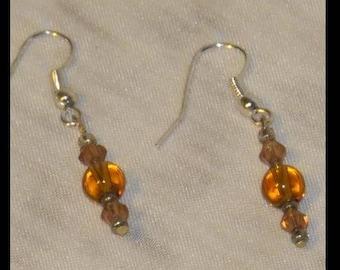 Amber Earrings November birthstone 1990s earrings