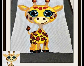 C2C, Giraffe Baby, Giraffe C2C Graph, Giraffe Crochet Graph, Giraffe Graphghan, Word Chart