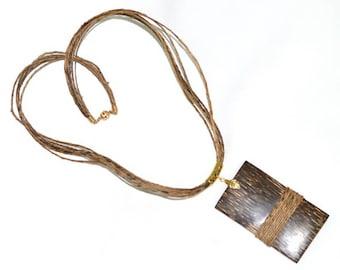 Necklaces - Banana Tree and Pupunha Necklace