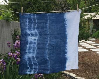SALE | Shibori Indigo Flour Sack Tea Towel | Set of Two
