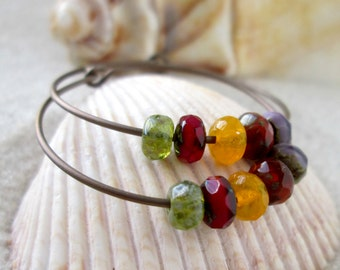 Hypoallergenic Earrings - Titanium Earrings - Hoop Earrings - Gift for Her - Autumn Jewelry - Hypoallergenic Hoop Earrings - Autumn Series16