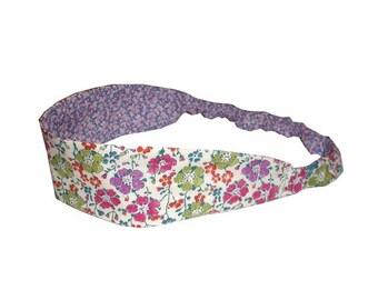 Elastic headband and reversible fabrics Clarisse and Pepper Liberty size optional