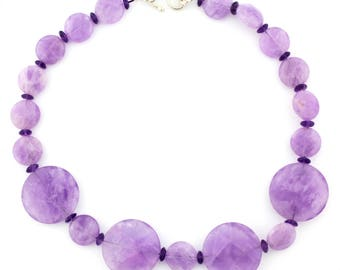 Amethysts and Amethysts Necklace