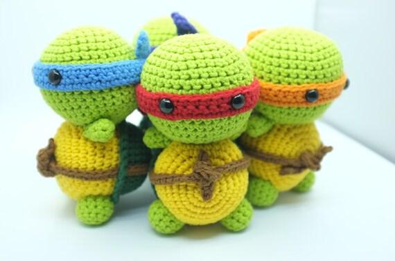 Amigurumi Turtle : Pattern ninja turtle tmnt amigurumi crochet pdf instant