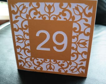 Birthday or anniversary card for money gifts-customizable