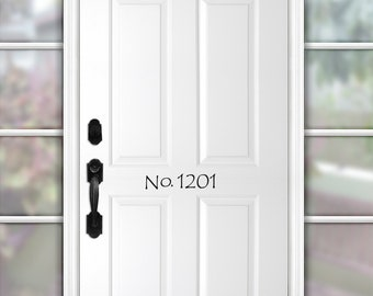 House Numbers, Door Numbers, Address Numbers, Door Decal Numbers, House Number Decal, Address Sticker, Housewarming Gift Street Number Decal