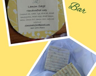 Lemon sage bar soap