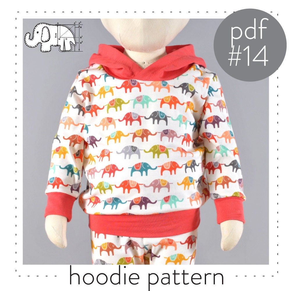 Hoodie sewing pattern pdf // sizes 0 to 6T // photo tutorial