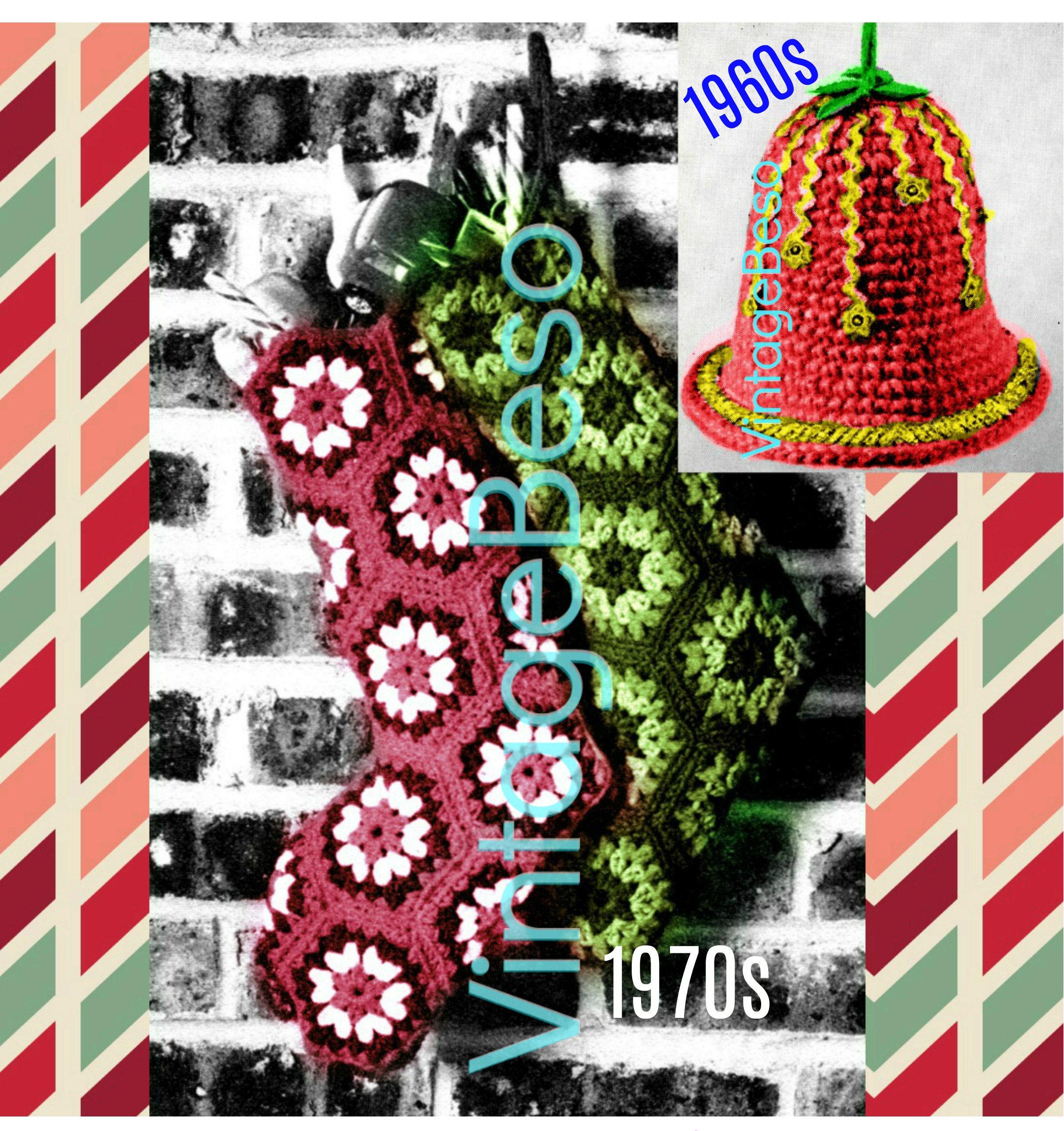 Christmas Stocking Crochet Pattern Bell Crochet Pattern • Vintage ...