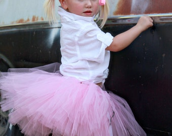 Rockabilly Kids Clothing | Retro Tutu | Betty | Pink Poodle Skirt Tutu by Atutudes | Sock Hop | Grease | Pink Ladies