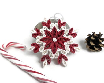 Christmas ornament - Snowflake ornament - Quilling ornament - Paper snowflake - Christmas decoration - Quilling snowflake - Christmas gift