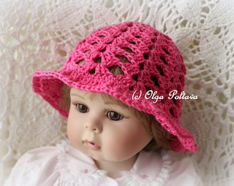 Simple Shells Baby Summer Hat Crochet Pattern, Easy Crochet Pattern, Size 3-6 Months, 6-12 Months
