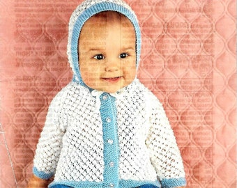 Studley 1077  Vintage Baby Knitting Pattern Instant Download!