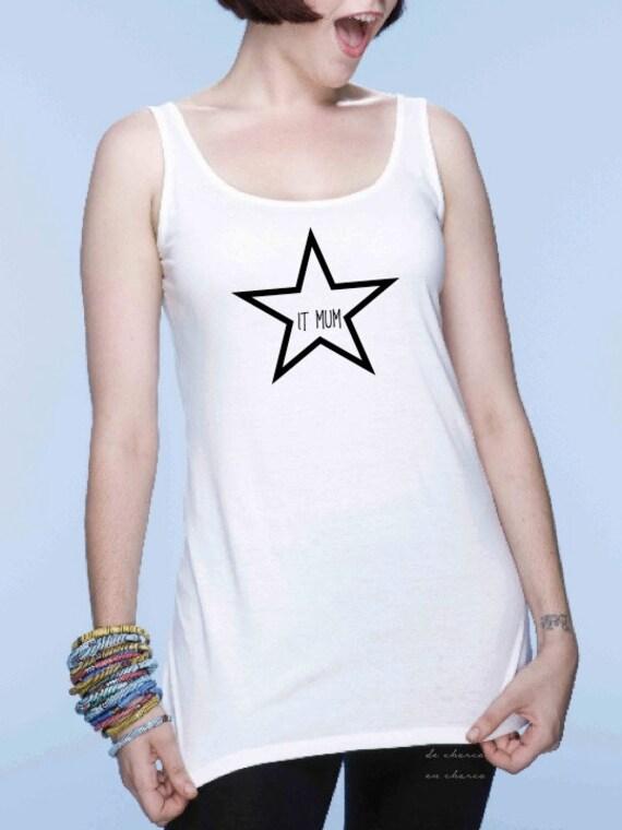 Round neck women t-shirt STAR IT MUM